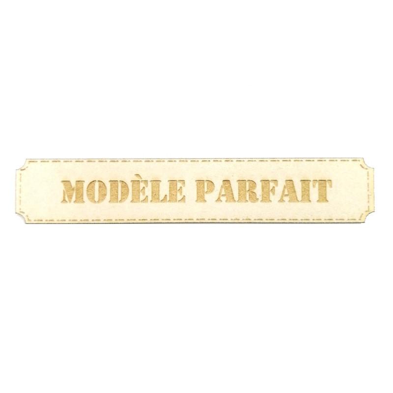 Étiquette rectangulaire modèle parfait en carton bois Scrapmouset