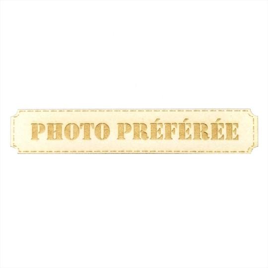 Étiquette rectangulaire photo préférée en carton bois Scrapmouset