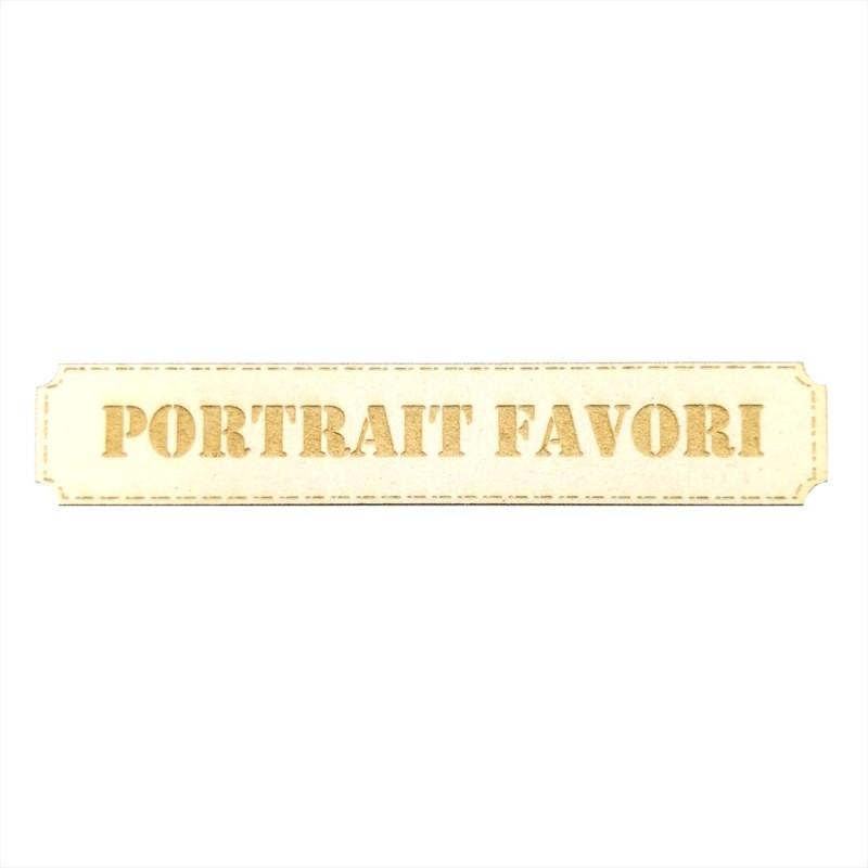 Étiquette rectangulaire Portrait favori en carton bois Scrapmouset