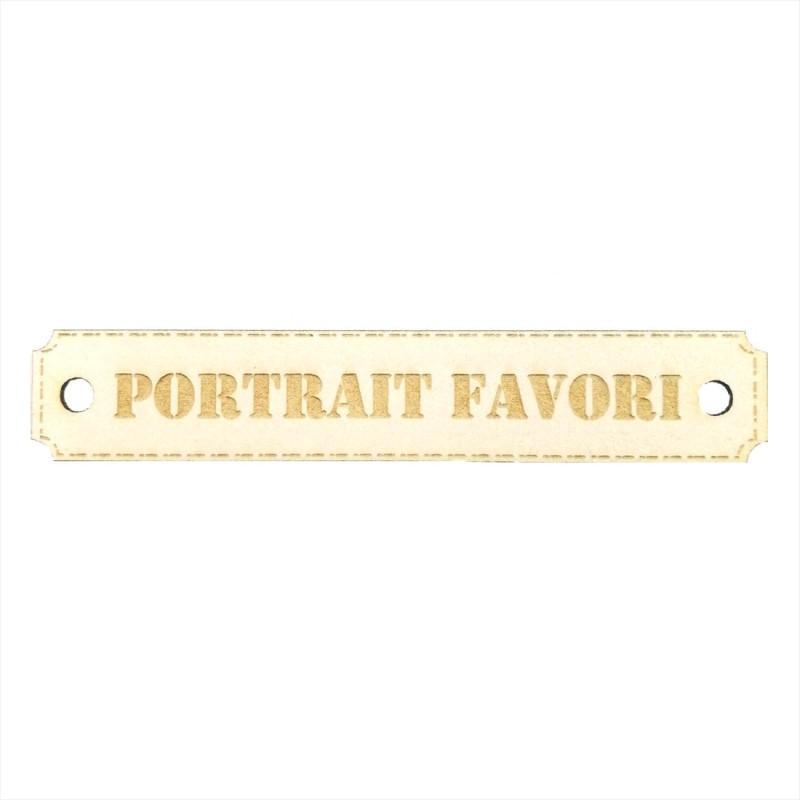 Etiquette Portrait favori avec trous de fixation en carton bois Scrapmouset