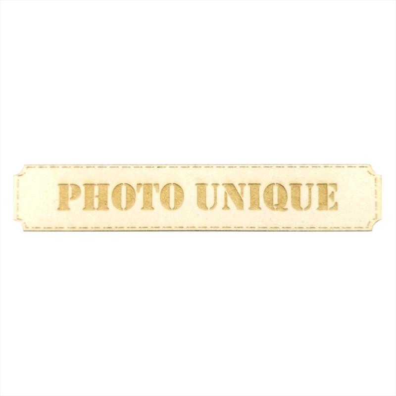 Etiquette rectangulaire Photo unique en carton bois SCRAPMOUSET
