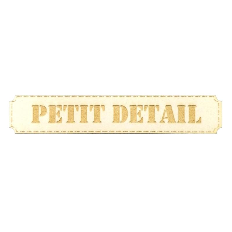 Etiquette rectangulaire Petit détail en carton bois SCRAPMOUSET