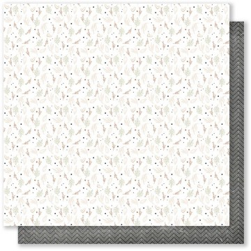 Feuille 01 scrapbooking 30 x 30 collection Plume MES P'TITS CISEAUX