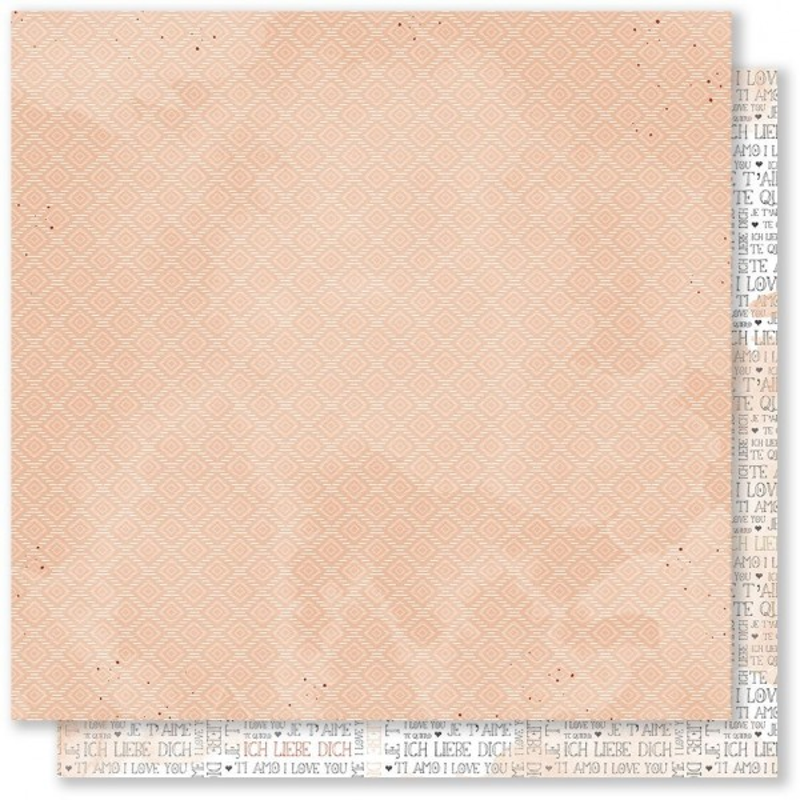 Feuille 03 scrapbooking 30 x 30 collection Plume MES P'TITS CISEAUX