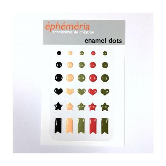 Enamel dots collection Plume MES P'TITS CISEAUX