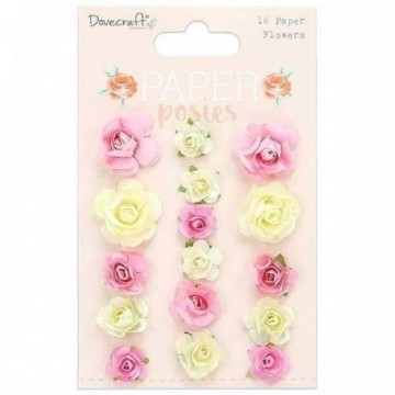 Lot 16 fleurs collection Paper Posies DOVECRAFT