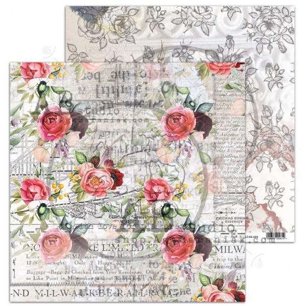 Set 8 papiers scrapbooking 30 x 30 collection Never-never Land AB STUDIO