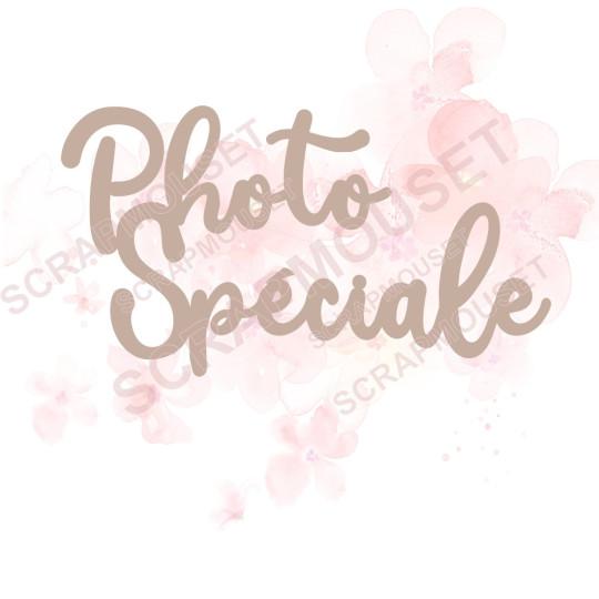 Mot Photo spéciale en carton bois SCRAPMOUSET