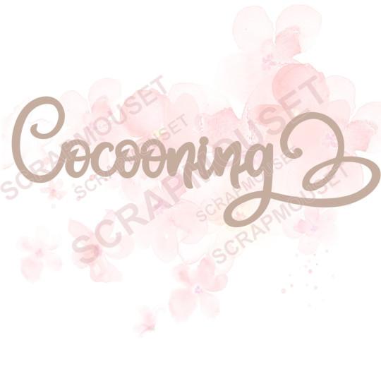 Mot Cocooning en carton bois SCRAPMOUSET